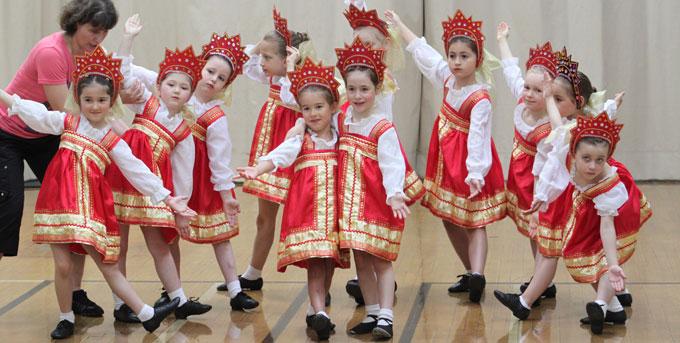 Groupe de danse russe